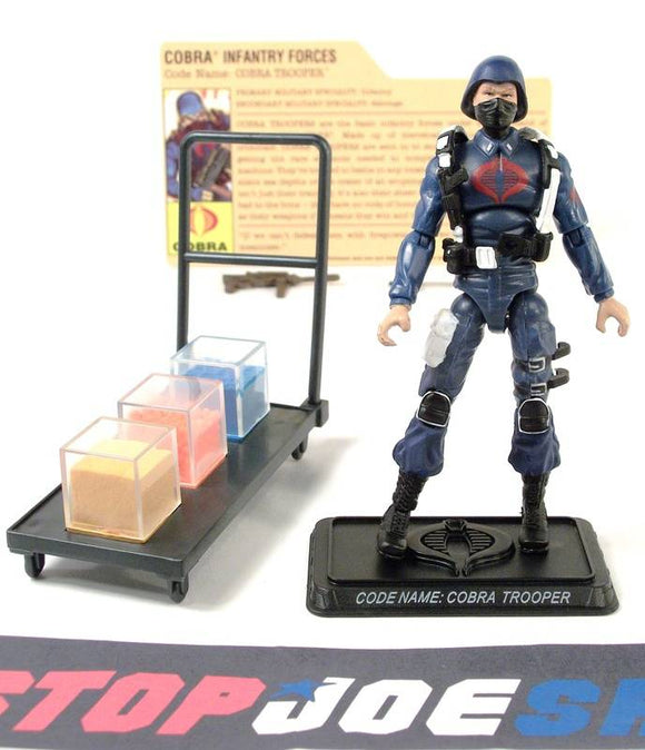 2008 25TH ANNIV G.I. JOE COBRA ENEMY TROOPER V8 DVD BATTLE PACK LOOSE 100% COMPLETE + F/C