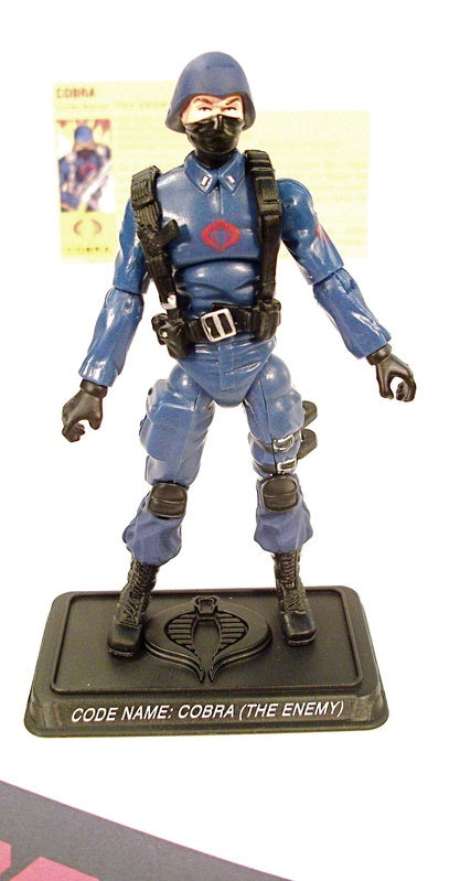 2007 25TH ANNIV G.I. JOE COBRA ENEMY TROOPER V2 COBRA THE ENEMY BATTLE PACK LOOSE 100% COMPLETE + F/C