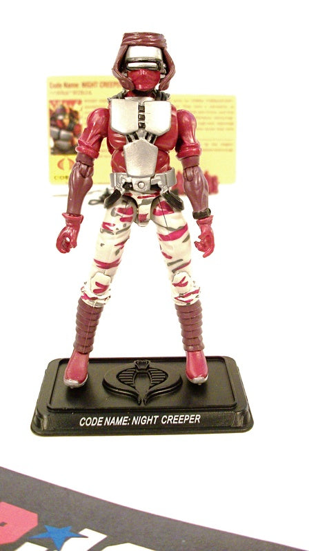 2009 25TH ANNIV G.I. JOE COBRA NIGHT CREEPER V11 DEFENSE OF COBRA ISLAND PACK LOOSE 100% COMPLETE + F/C