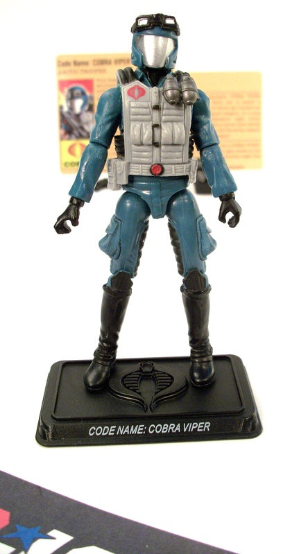 2008 25TH ANNIV G.I. JOE COBRA VIPER V17 EXTREME CONDITIONS ARCTIC ASSAULT SQUAD PACK INTERNET EXCLUSIVE  LOOSE 100% COMPLETE + F/C