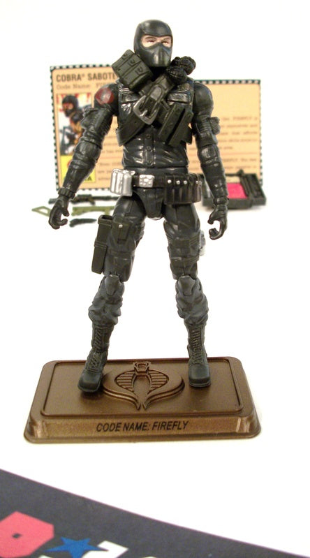 2009 25TH ANNIV G.I. JOE COBRA FIREFLY V18 HALL OF HEROES INTERNET EXCLUSIVE 100% COMPLETE + F/C