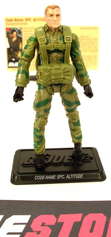 2009 25TH ANNIV G.I. JOE SPC. ALTITUDE V1 (RIP CORD) ASSAULT ON COBRA ISLAND PACK LOOSE 100% COMPLETE + F/C