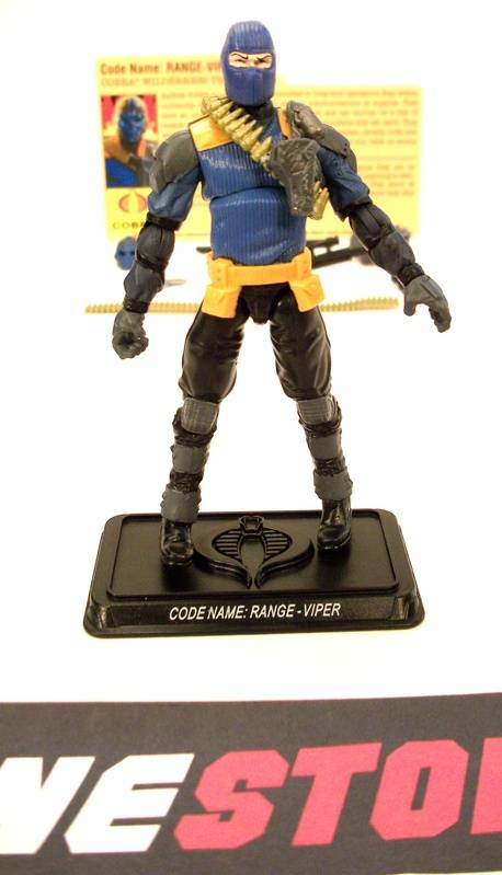 2009 25TH ANNIVERSARY G.I. JOE COBRA RANGE-VIPER V4 DEFENSE OF COBRA ISLAND PACK LOOSE 100% COMPLETE + F/C