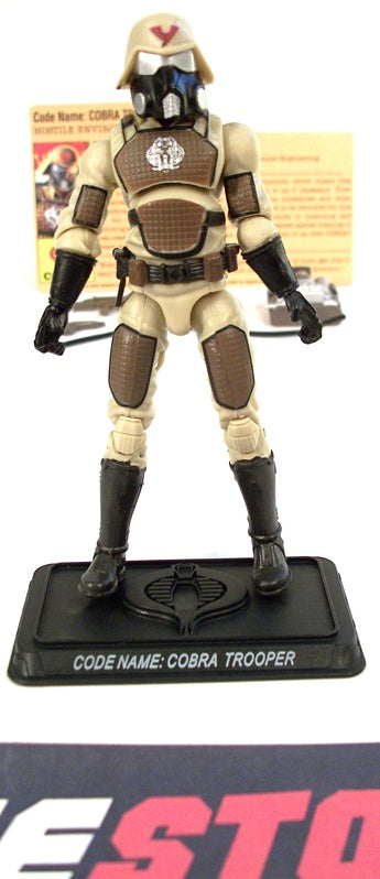 2008 25TH ANNIV G.I. JOE COBRA ENEMY TROOPER V11 EXTREME CONDITIONS DESERT ASSAULT SQUAD PACK INTERNET EXCLUSIVE  LOOSE 100% COMPLETE + F/C