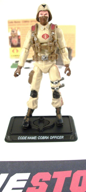 2008 25TH ANNIVERSARY G.I. JOE COBRA OFFICER V8 EXTREME CONDITIONS DESERT ASSAULT SQUAD PACK INTERNET EXCLUSIVE  LOOSE 100% COMPLETE + F/C