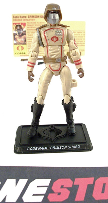 2008 25TH ANNIVERSARY G.I. JOE COBRA CRIMSON GUARD V13A EXTREME CONDITIONS DESERT ASSAULT SQUAD PACK INTERNET EXCLUSIVE LOOSE 100% COMPLETE + F/C