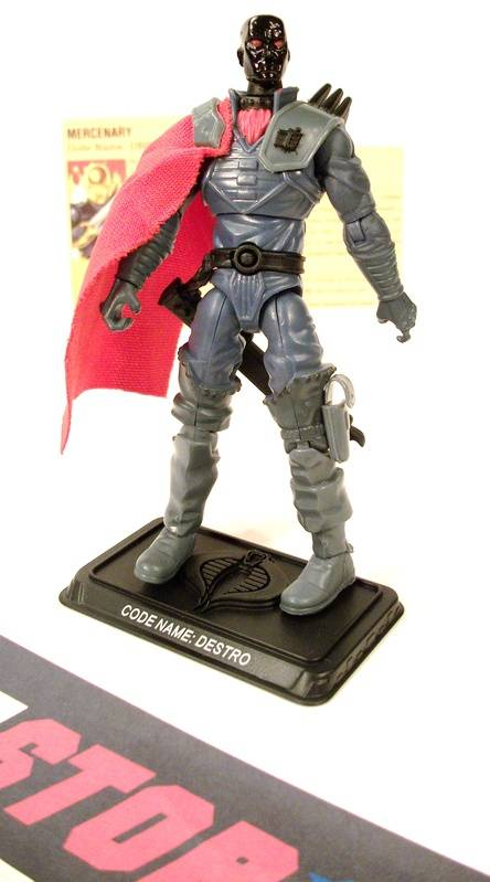 2008 25TH ANNIVERSARY G.I. JOE COBRA DESTRO V19B COMIC PACK LOOSE 100% COMPLETE + F/C
