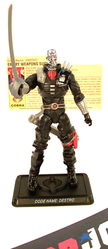 2008 25TH ANNIVERSARY G.I. JOE COBRA DESTRO V21 ULTIMATE BATTLE PACK INTERNET EXCLUSIVE LOOSE 100% COMPLETE + F/C