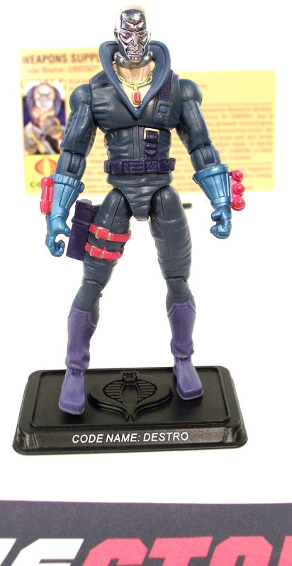 2008 25TH ANNIV G.I. JOE COBRA DESTRO V17 COMIC PACK LOOSE 100% COMPLETE + F/C