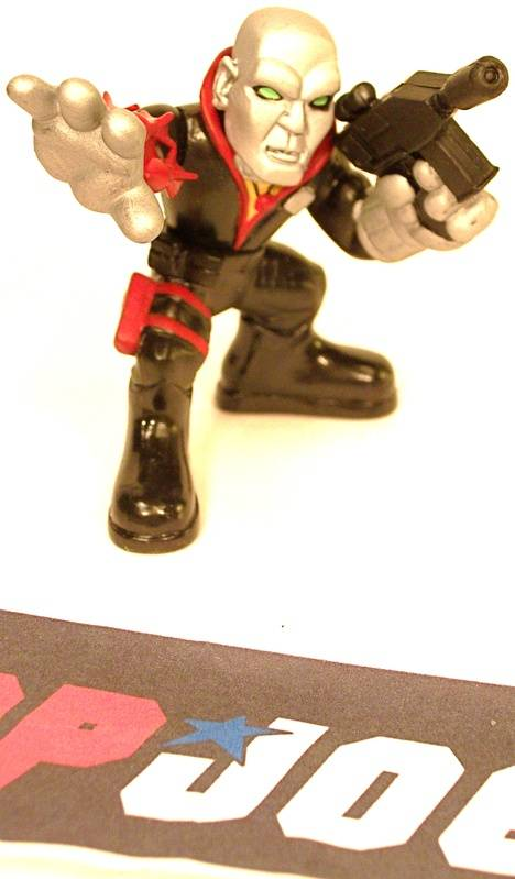 2009 COMBAT HEROES G.I. JOE COBRA DESTRO V1 LOOSE