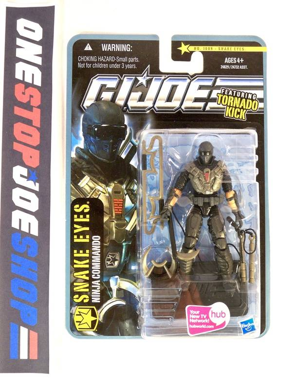 2010 POC G.I. JOE SNAKE EYES V53 TORNADO KICK WAVE 2 NEW SEALED