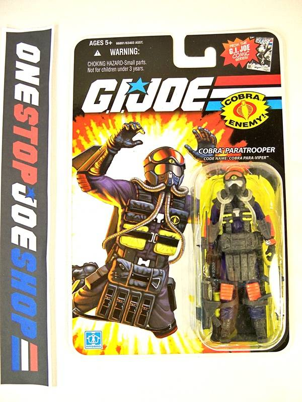 2008 25TH ANNIV G.I. JOE COBRA PARA-VIPER V1 WAVE 10 NEW SEALED