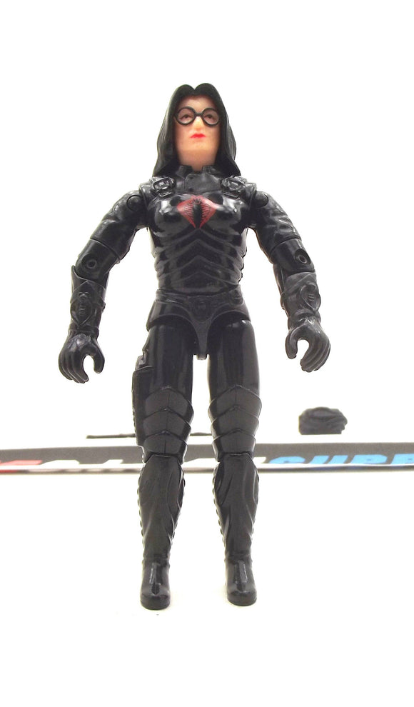 1984 VINTAGE ARAH G.I. JOE COBRA BARONESS V1 INTELLIGENCE OFFICER LOOSE 100% COMPLETE (d)
