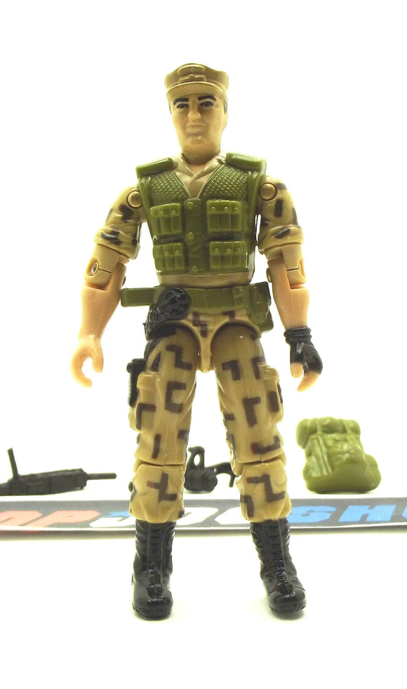 1988 ARAH G.I. JOE REPEATER V1 STEADI-CAM MACHINE GUNNER LOOSE 100% COMPLETE (a)