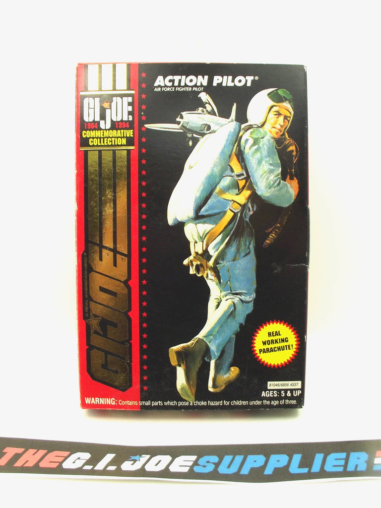 "1994 G.I. JOE ACTION PILOT V1 AIR FORCE FIGHTER PILOT 1964-1994 30TH ANNIVERSARY COMMEMORATIVE 3 3/4"" NEW SEALED"