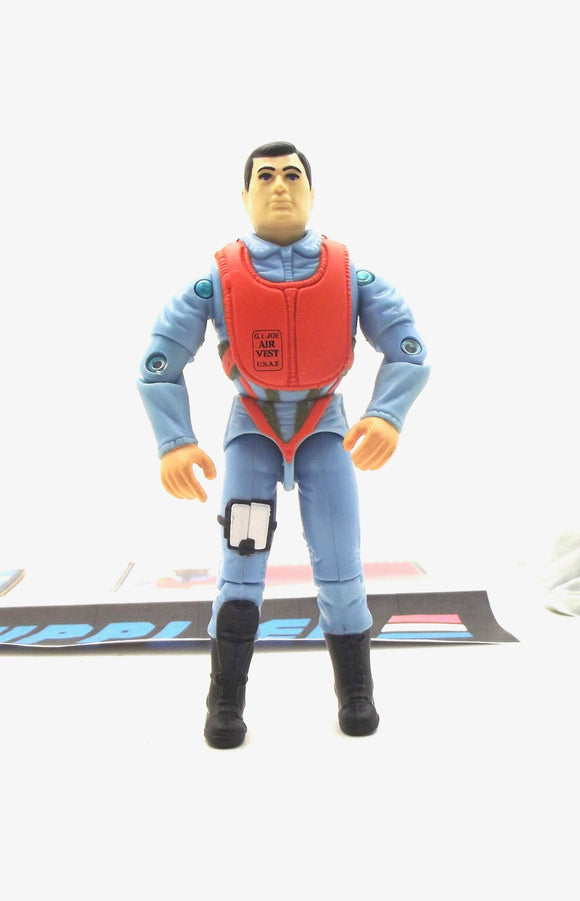 1994 G.I. JOE ACTION PILOT V2 ORIGINAL ACTION TEAM AIR FORCE FIGHTER PILOT 1964-1994 30TH ANNIVERSARY COMMEMORATIVE LOOSE 100% COMPLETE + F/C