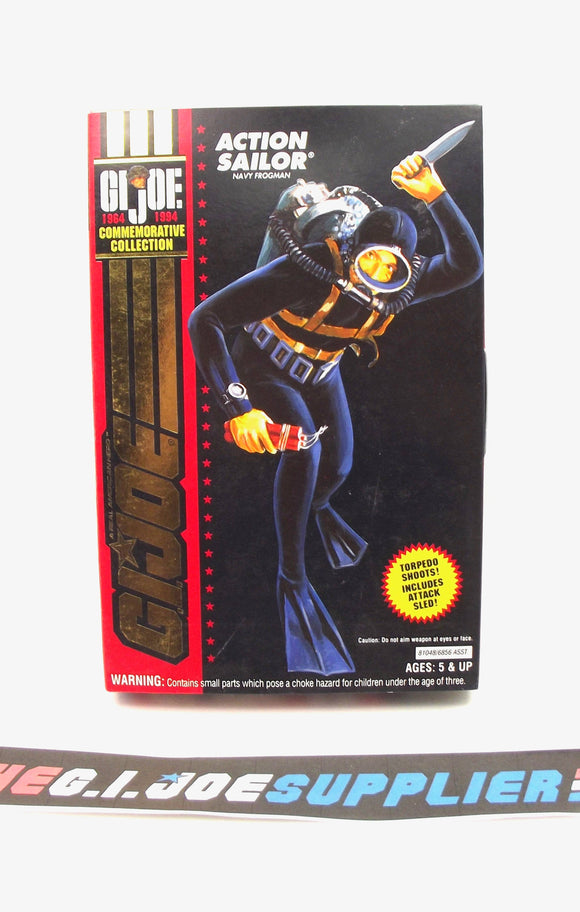 1994 G.I. JOE ACTION SAILOR V1 NAVY FROGMAN 1964-1994 30TH ANNIVERSARY COMMEMORATIVE 3 3/4