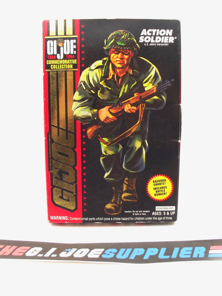 "1994 G.I. JOE ACTION SOLDIER V1 U.S. ARMY INFANTRYMAN 1964-1994 30TH ANNIVERSARY COMMEMORATIVE 3 3/4"" NEW SEALED"