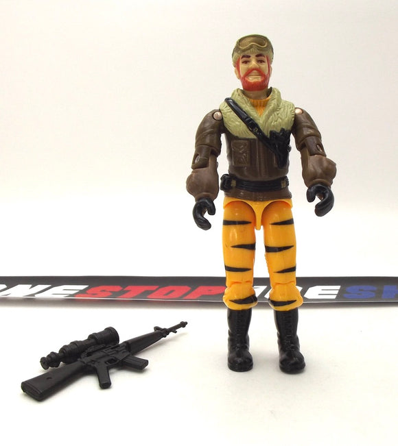 1988 ARAH G.I. JOE FROSTBITE V2 TIGER FORCE TIGER CAT DRIVER LOOSE 100% COMPLETE