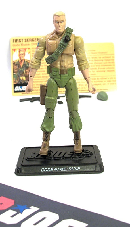 2007 25TH ANNIVERSARY G.I. JOE DUKE V23 G.I. JOE TEAM BATTLE PACK LOOSE 100% COMPLETE + F/C
