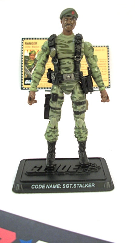 2007 25TH ANNIVERSARY G.I. JOE SGT. STALKER V9 WAVE 3 LOOSE 100% COMPLETE + F/C  WIDE 'DIAPER' CROTCH VARIANT