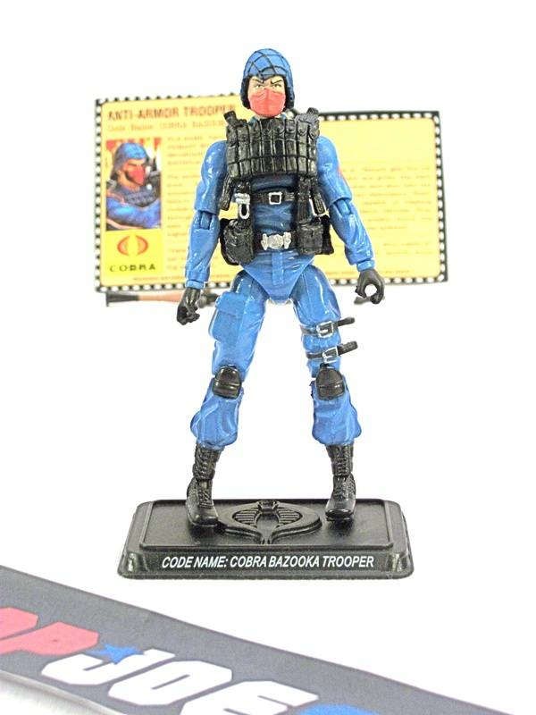 2008 25TH ANNIV G.I. JOE COBRA BAZOOKA TROOPER V1 WAVE 10 LOOSE 100% COMPLETE + F/C
