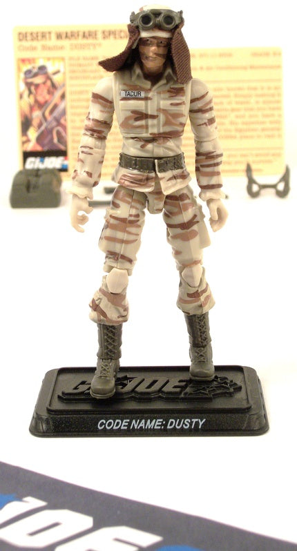 2008 25TH ANNIV G.I. JOE DUSTY V12 DVD BATTLE PACK LOOSE 100% COMPLETE + F/C