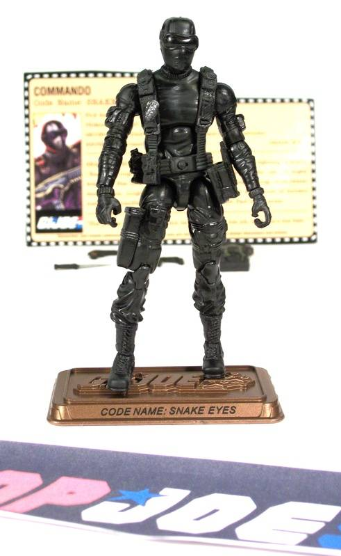 2009 25TH ANNIV G.I. JOE SNAKE EYES V42 HALL OF HEROES INTERNET EXCLUSIVE LOOSE 100% COMPLETE + F/C