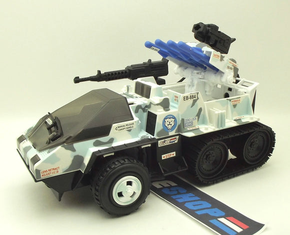 2003 GVC G.I. JOE SNOW CAT VEHICLE TRU EXCLUSIVE LOOSE 100% COMPLETE (a)