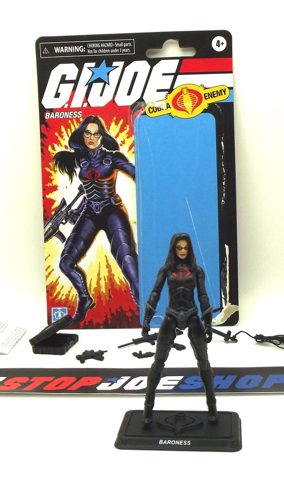 2020 RETRO LINE G.I. JOE COBRA BARONESS V18 WAVE 1 WAL-MART EXCLUSIVE LOOSE 100% COMPLETE