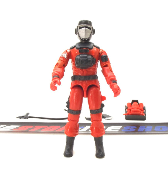 1985 ARAH G.I. JOE BARBECUE V1 FIRE FIGHTER LOOSE 100% COMPLETE (b)