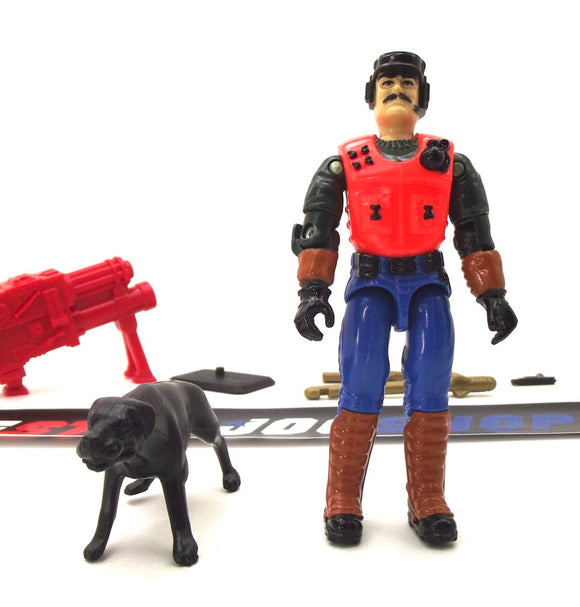 1993 VINTAGE ARAH G.I. JOE MUTT & JUNKYARD V4 K-9 OFFICER & ATTACK DOG LOOSE 100% COMPLETE