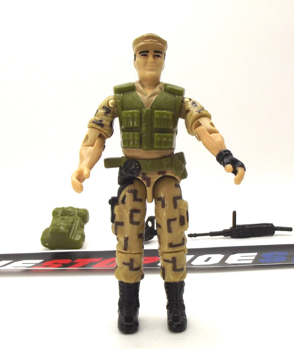 1988 ARAH G.I. JOE REPEATER V1 STEADI-CAM MACHINE GUNNER LOOSE 100% COMPLETE (c)