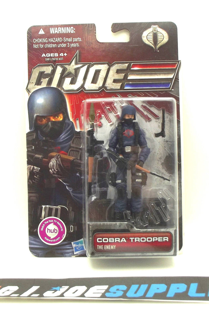 2011 30TH ANNIVERSARY G.I. JOE COBRA ENEMY TROOPER V15 NEW SEALED HOLDING RIFLE VARIANT