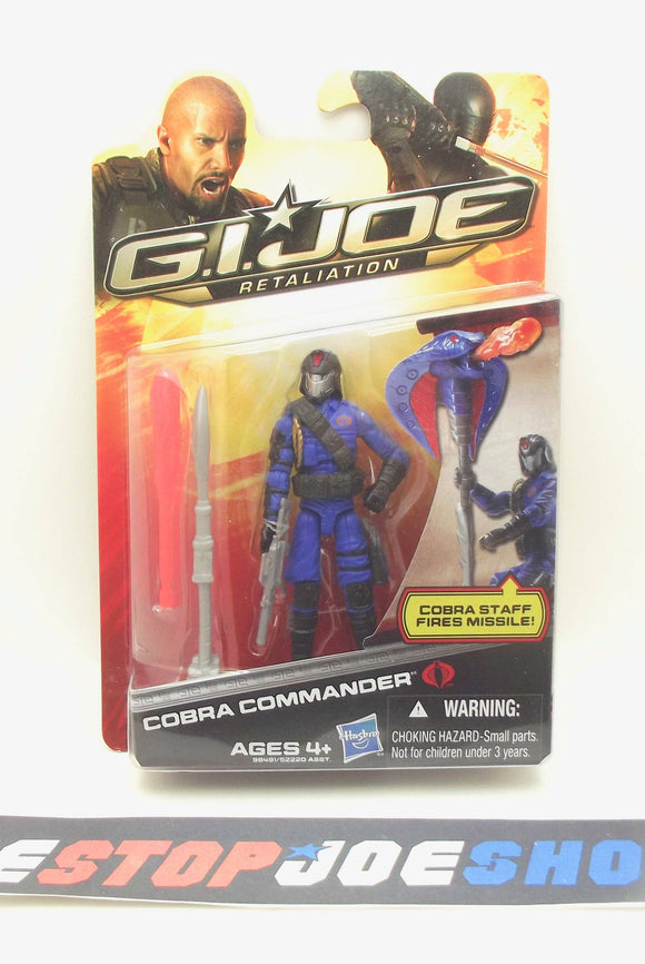 2012 RETALIATION G.I. JOE COBRA COMMANDER V49B NEW SEALED