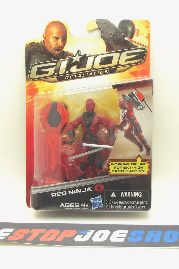 2012 RETALIATION G.I. JOE COBRA RED NINJA V4 NEW SEALED