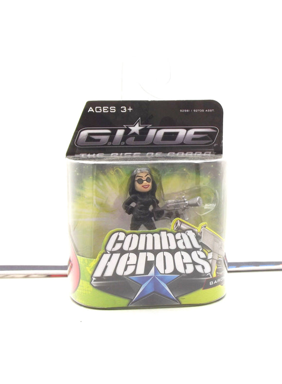 2009 COMBAT HEROES G.I. JOE COBRA BARONESS V3 ROC RISE OF COBRA NEW SEALED