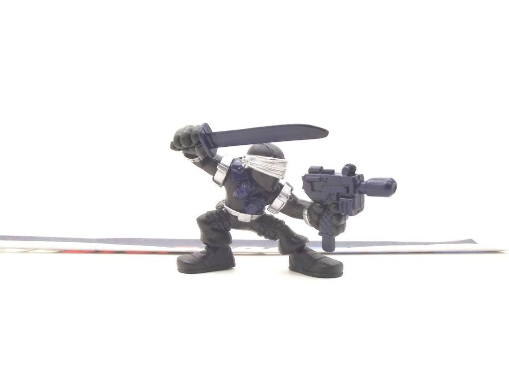 2009 COMBAT HEROES G.I. JOE SNAKE EYES V4 ROC RISE OF COBRA LOOSE