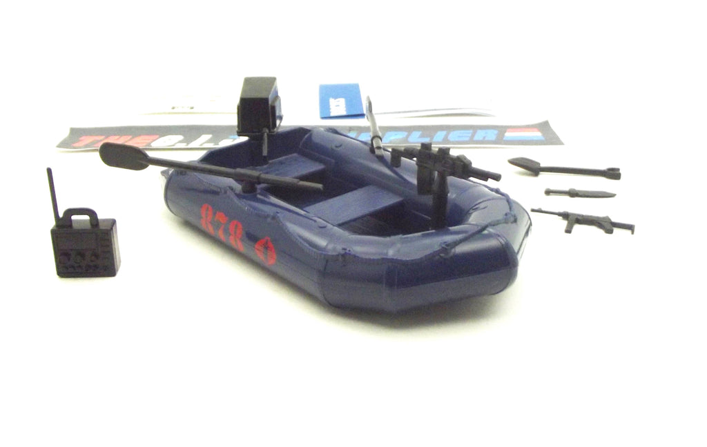 2014 50TH ANNIV G.I. JOE COBRA NIGHT RAFT VEHICLE DANGER AT THE DOCKS PACK LOOSE COMPLETE