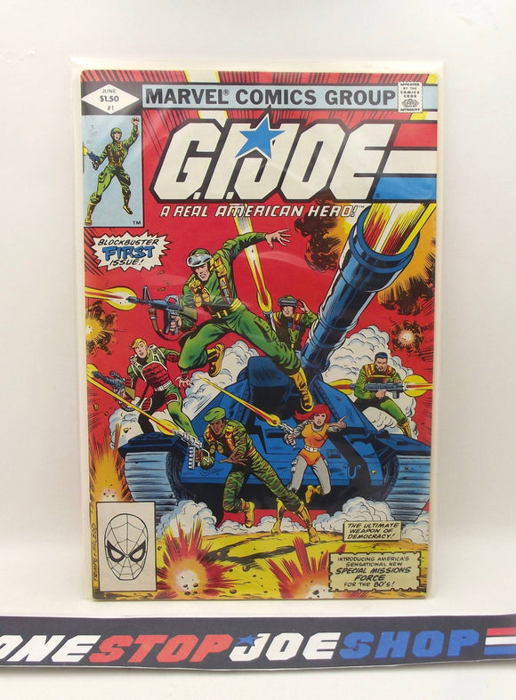 MARVEL COMICS G.I. JOE A REAL AMERICAN HERO ISSUE #1 COMIC BOOK DIRECT EDITION VF+ / NM 1ST PRINT