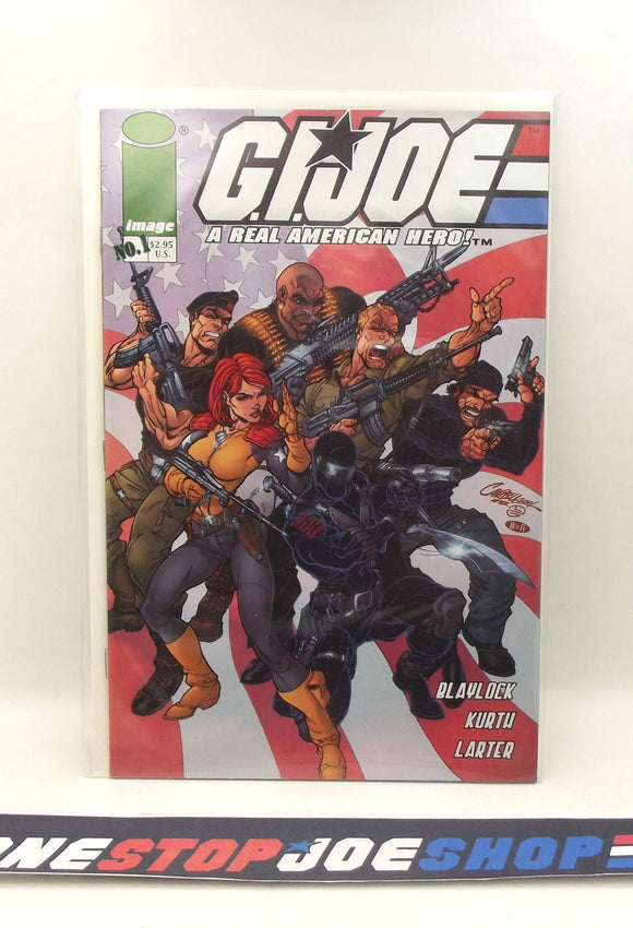 IMAGE COMICS G.I. JOE A REAL AMERICAN HERO ISSUE #1 COMIC BOOK CAMPBELL COVER VF+ / NM 1ST PRINT