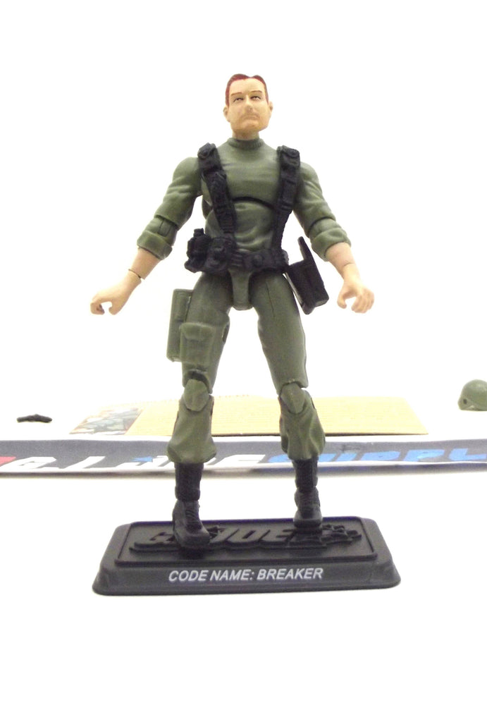 2008 25TH ANNIV G.I. JOE CPL. BREAKER V1 ALPHA VEHICLE RAM CYCLE DRIVER LOOSE 100% COMPLETE + F/C