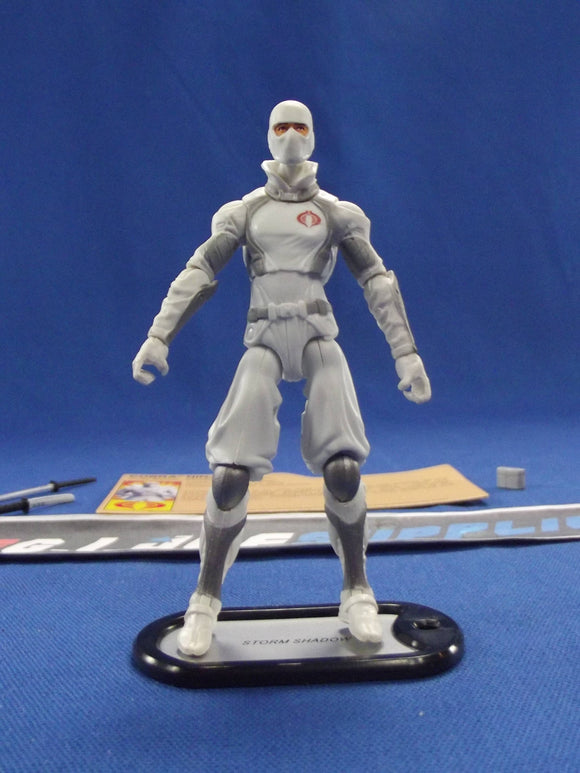 2012 RETALIATION G.I. JOE COBRA STORM SHADOW V43 AMAZON PREMIERE EXCLUSIVE LOOSE 100% COMPLETE + F/C