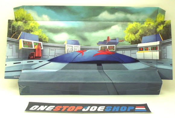 2009 G.I. JOE COBRA 25TH ANNIV COBRA 5-PACK TERROR DROME BACKGROUND DISPLAY DIORAMA