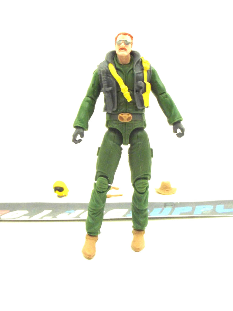 2009 25TH ANNIVERSARY G.I. JOE WILD BILL V14 ECHO VEHICLE TIGER RAT PILOT TARGET EXCLUSIVE LOOSE 100% COMPLETE NO FILE CARD