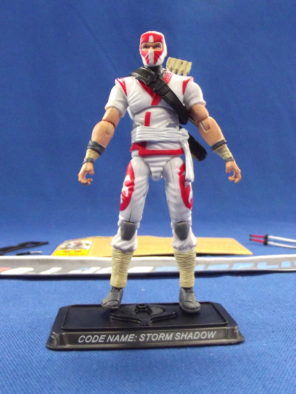 2007 25TH ANNIV G.I. JOE COBRA STORM SHADOW V23 COBRA LEGIONS BATTLE PACK LOOSE 100% COMPLETE + F/C