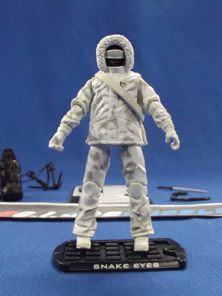 2009 ROC G.I. JOE SNAKE EYES V46 ARCTIC ASSAULT LOOSE 100% COMPLETE + F/C