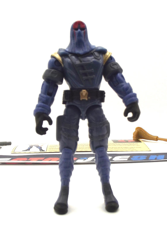 2002 GVC G.I. JOE COBRA COMMANDER V13 SUPREME COBRA LEADER LOOSE 100% COMPLETE + F/C