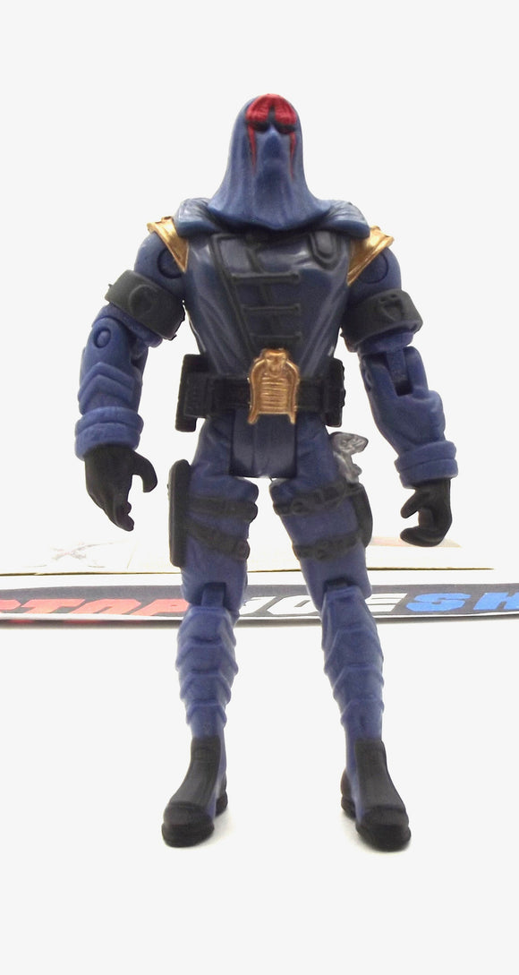 2002 GVC G.I. JOE COBRA COMMANDER V11 SUPREME COBRA LEADER LOOSE 100% COMPLETE + F/C