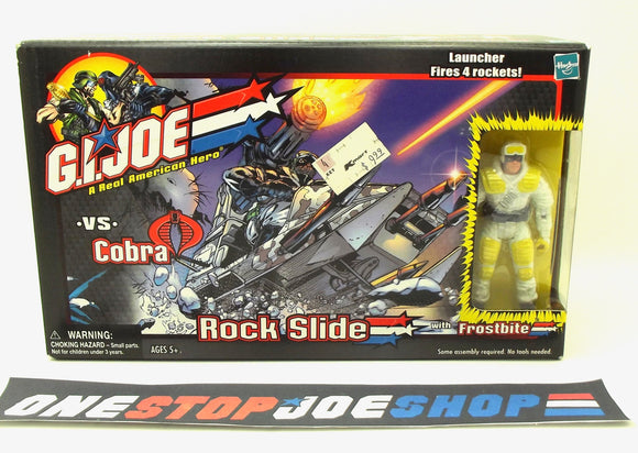 2002 GVC G.I. JOE ROCK SLIDE W/ FROSTBITE V5 NEW SEALED